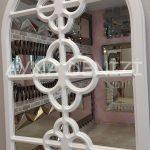 Jerez Model Beyaz Renk Dekoratif Pencere Ayna-19