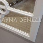 Jerez Model Beyaz Renk Dekoratif Pencere Ayna-21
