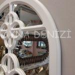 Jerez Model Beyaz Renk Dekoratif Pencere Ayna-23