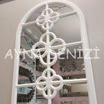 Jerez Model Beyaz Renk Dekoratif Pencere Ayna-4