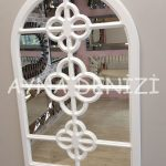 Jerez Model Beyaz Renk Dekoratif Pencere Ayna-8