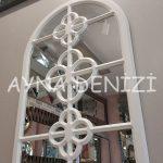 Jerez Model Beyaz Renk Dekoratif Pencere Ayna-9