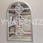 Jerez Model Gümüş Renk Dekoratif Pencere Ayna-1
