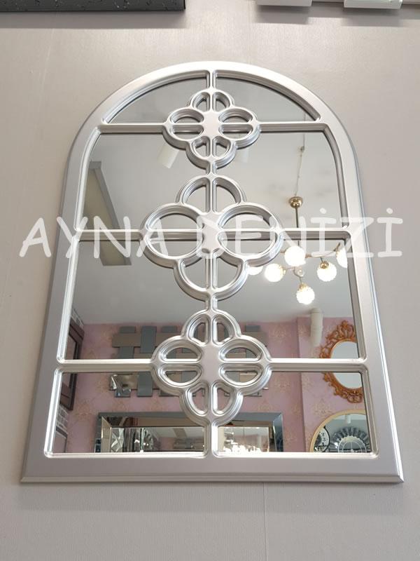 Jerez Model Gümüş Renk Dekoratif Pencere Ayna-10