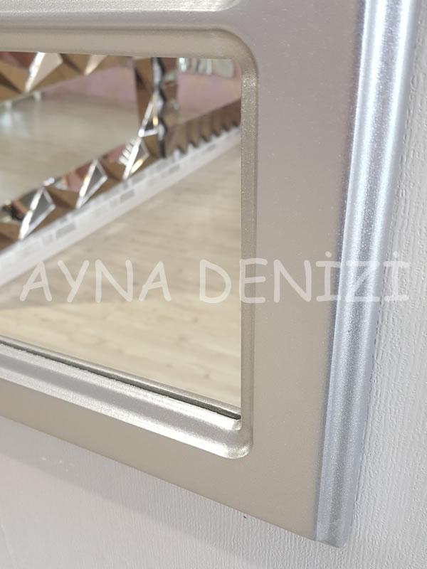 Jerez Model Gümüş Renk Dekoratif Pencere Ayna-12