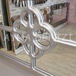 Jerez Model Gümüş Renk Dekoratif Pencere Ayna-16