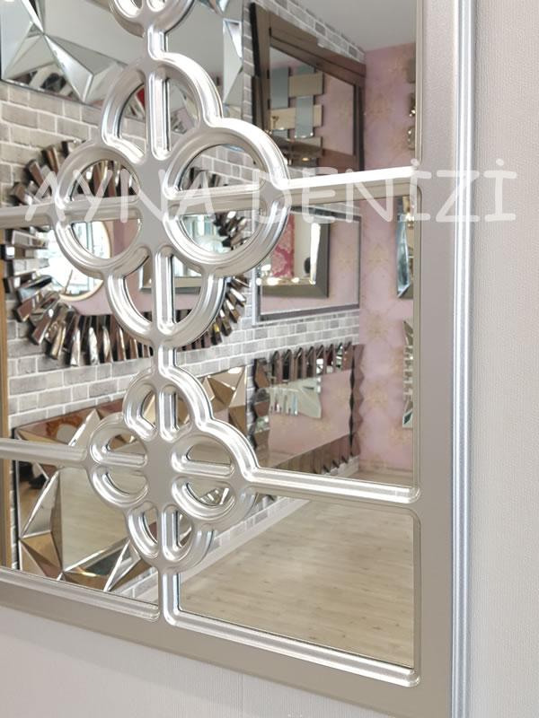 Jerez Model Gümüş Renk Dekoratif Pencere Ayna-17