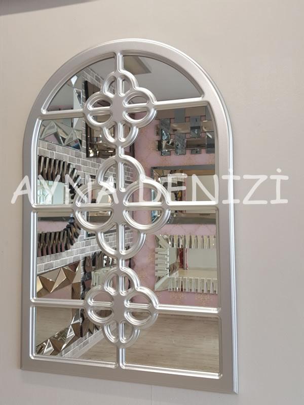 Jerez Model Gümüş Renk Dekoratif Pencere Ayna-2