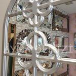 Jerez Model Gümüş Renk Dekoratif Pencere Ayna-23