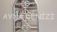 Jerez Model Gümüş Renk Dekoratif Pencere Ayna