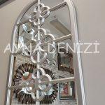 Jerez Model Gümüş Renk Dekoratif Pencere Ayna-4