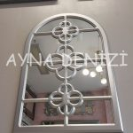 Jerez Model Gümüş Renk Dekoratif Pencere Ayna-6