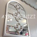 Jerez Model Gümüş Renk Dekoratif Pencere Ayna-7