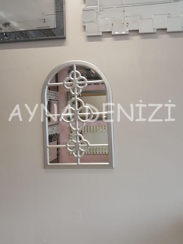 Jerez Model Gümüş Renk Dekoratif Pencere Ayna-8