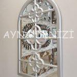 Jerez Model Gümüş Renk Dekoratif Pencere Ayna-9