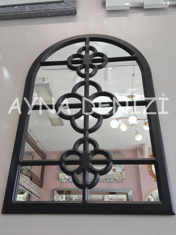 Jerez Model Siyah Renk Dekoratif Pencere Ayna-10