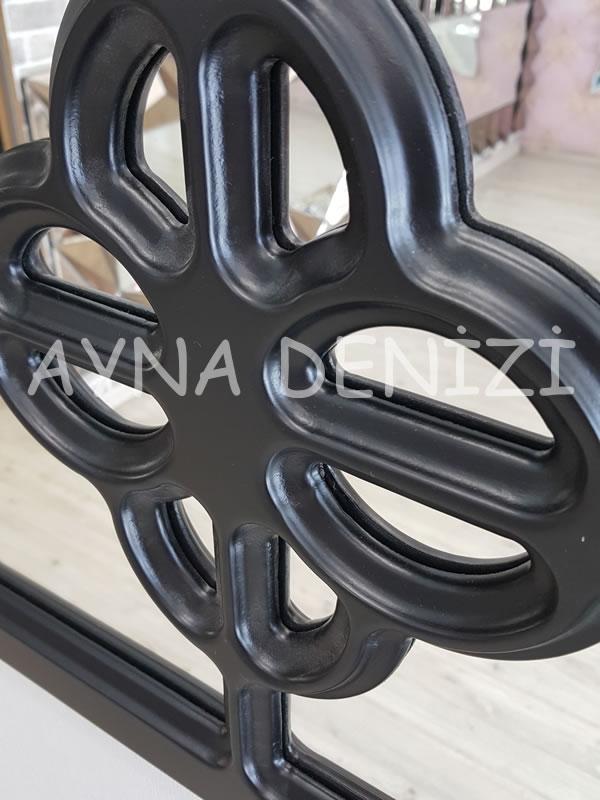Jerez Model Siyah Renk Dekoratif Pencere Ayna-14