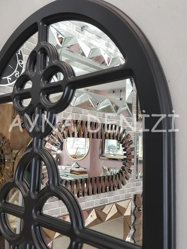 Jerez Model Siyah Renk Dekoratif Pencere Ayna-18