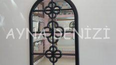 Jerez Model Siyah Renk Dekoratif Pencere Ayna
