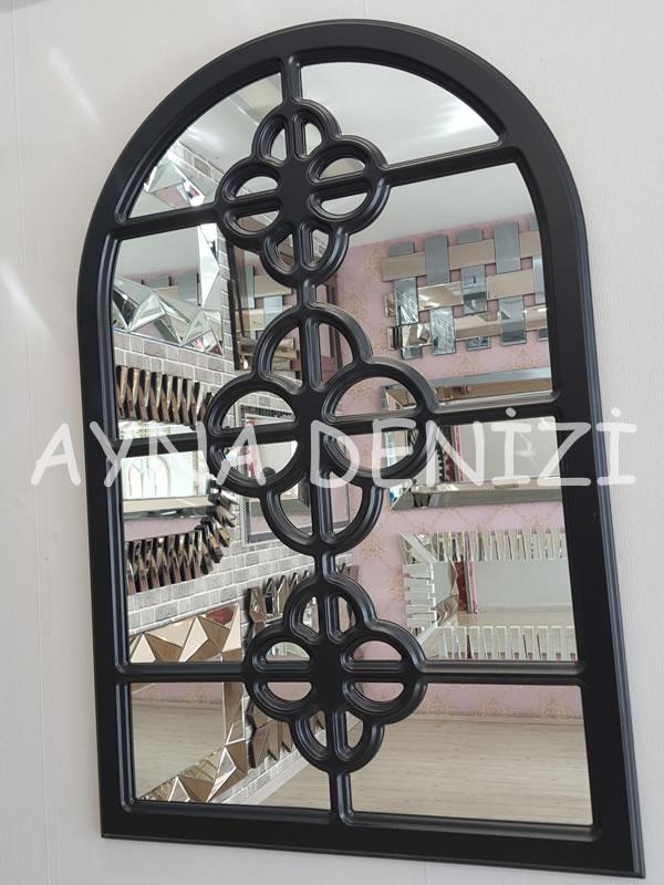 Jerez Model Siyah Renk Dekoratif Pencere Ayna-3