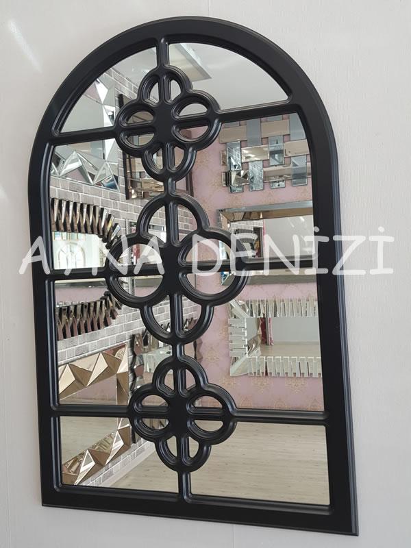 Jerez Model Siyah Renk Dekoratif Pencere Ayna-6