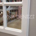 Messina Model Beyaz Renk Dekoratif Pencere Ayna-12