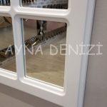 Messina Model Beyaz Renk Dekoratif Pencere Ayna-15