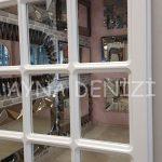 Messina Model Beyaz Renk Dekoratif Pencere Ayna-16