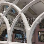 Messina Model Beyaz Renk Dekoratif Pencere Ayna-17