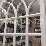 Messina Model Beyaz Renk Dekoratif Pencere Ayna-18