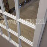Messina Model Beyaz Renk Dekoratif Pencere Ayna-20