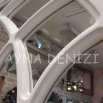 Messina Model Beyaz Renk Dekoratif Pencere Ayna-21