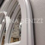 Messina Model Beyaz Renk Dekoratif Pencere Ayna-22