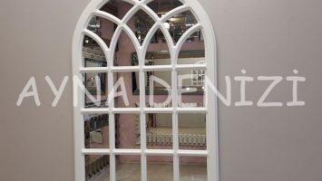 Messina Model Beyaz Renk Dekoratif Pencere Ayna