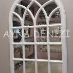 Messina Model Beyaz Renk Dekoratif Pencere Ayna-9
