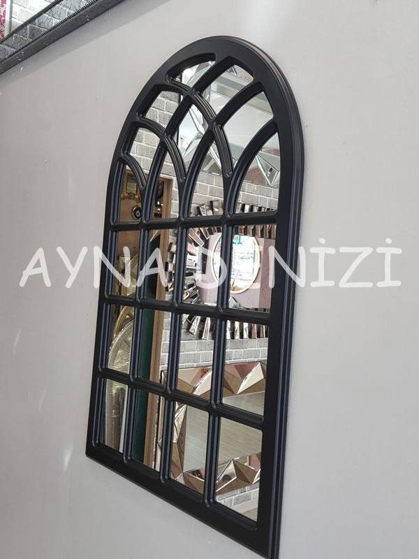 Messina Model Siyah Renk Dekoratif Pencere Ayna-10