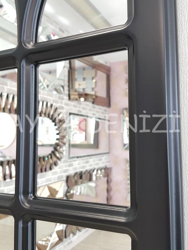 Messina Model Siyah Renk Dekoratif Pencere Ayna-16