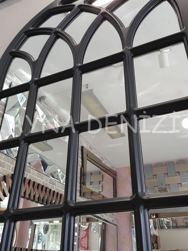 Messina Model Siyah Renk Dekoratif Pencere Ayna-19