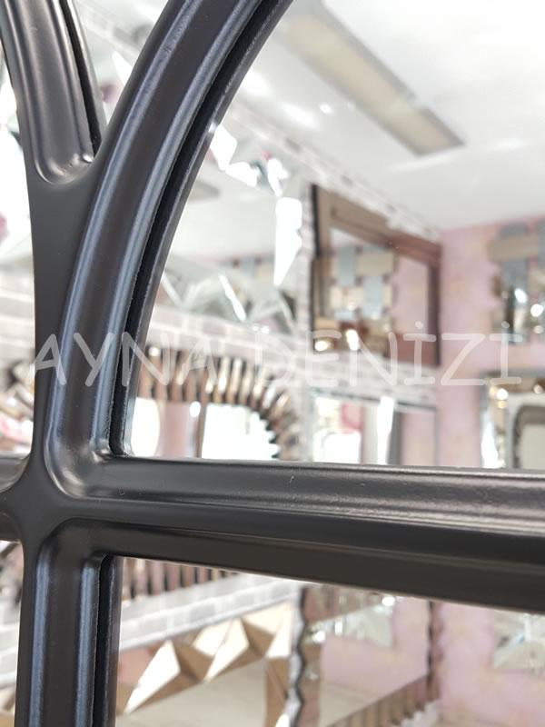 Messina Model Siyah Renk Dekoratif Pencere Ayna-22