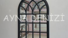 Messina Model Siyah Renk Dekoratif Pencere Ayna