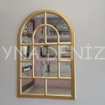 Parma Model Altın Renk Dekoratif Pencere Ayna-1