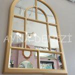 Parma Model Altın Renk Dekoratif Pencere Ayna-10