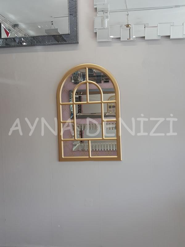 Parma Model Altın Renk Dekoratif Pencere Ayna-11
