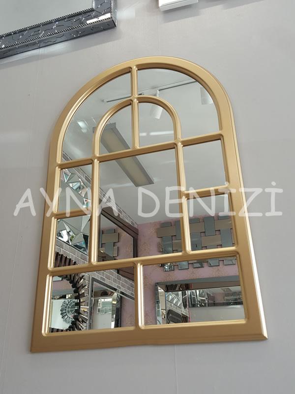 Parma Model Altın Renk Dekoratif Pencere Ayna-15