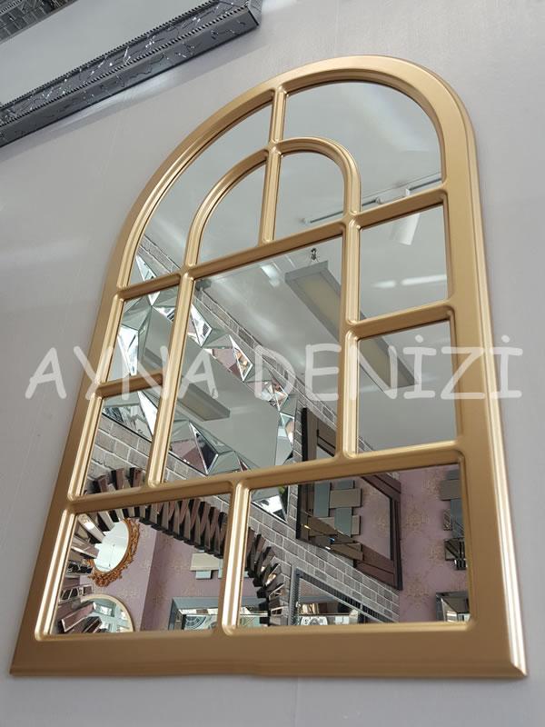 Parma Model Altın Renk Dekoratif Pencere Ayna-16
