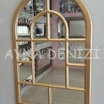 Parma Model Altın Renk Dekoratif Pencere Ayna-17