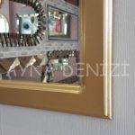 Parma Model Altın Renk Dekoratif Pencere Ayna-18