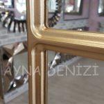 Parma Model Altın Renk Dekoratif Pencere Ayna-19