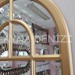 Parma Model Altın Renk Dekoratif Pencere Ayna-21