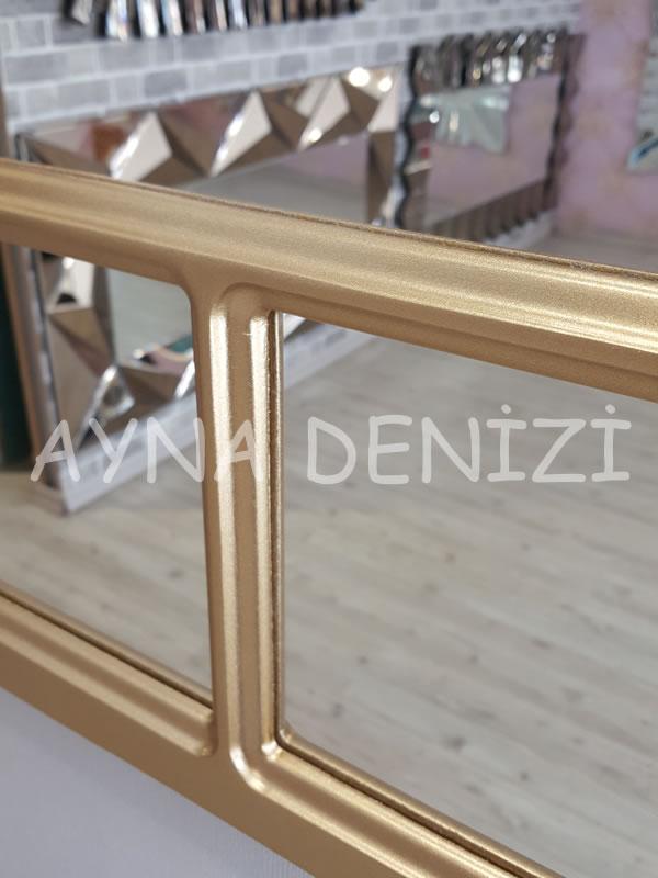 Parma Model Altın Renk Dekoratif Pencere Ayna-23